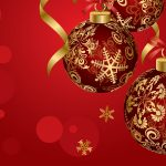Christmas balls red wallpaper