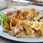 Pasta, mushrooms, herbs, delicious, gourmet, wallpaper