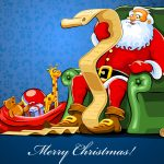 Santa Claus and Magic Seat Wallpaper