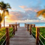Tropical seaside scenery wallpaper