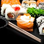 Sushi, roll sushi, seafood, themed food wallpaper