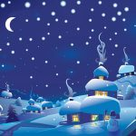 Blue christmas night wallpaper