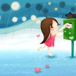 Cute letter box wallpaper