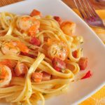 Spaghetti, noodles, shrimp, cumin, meat, gourmet wallpaper