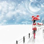 Winter beautiful girl wallpaper