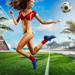 2014 Brazil World Cup sexy beauty wallpaper