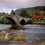 Llanrwst Bridge, Conwy River, Wales, United Kingdom desktop wallpaper