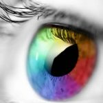 Colorful eye creative picture