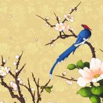 Beautiful bird flower wallpaper