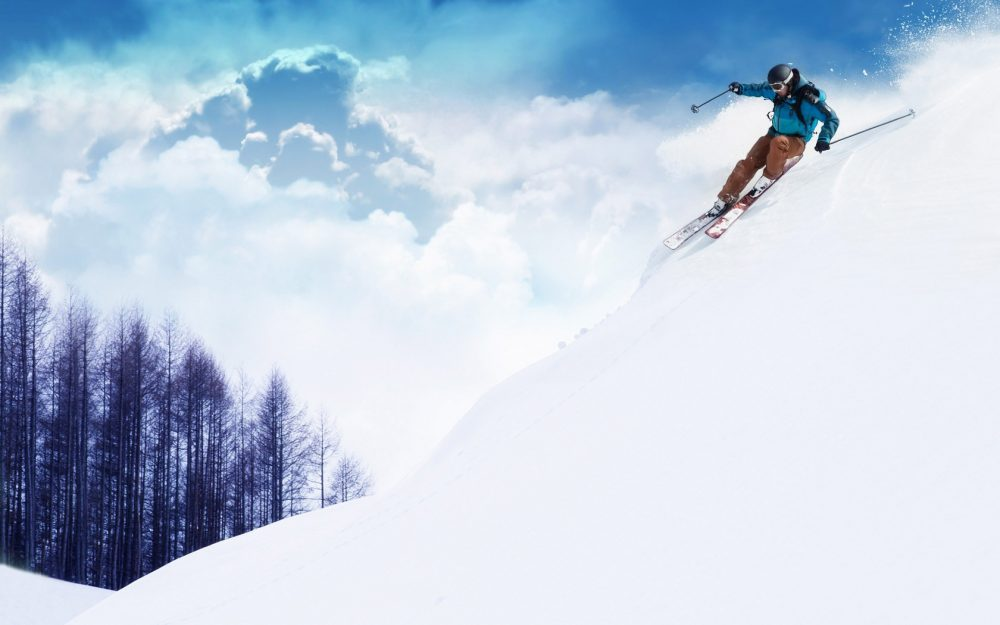 Extreme sports skiing wallpaper