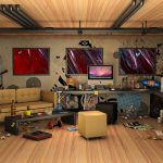 3d designer's room wallpaper desktop