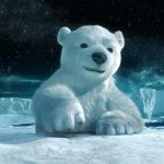Cute polar bear wallpaper