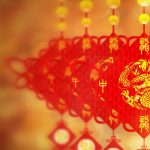 Year of the Dragon blessing Chinese knot desktop wallpaper