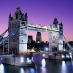 Tower Bridge at Night, London, England desktop background