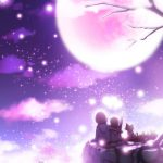 Romantic moonlight wallpaper