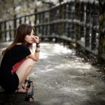 The Frown Girl hd wallpaper