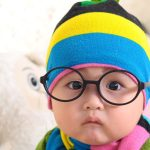 Super cute cute children photography HD pictures with glasses