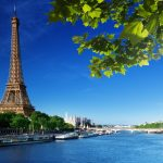 HD Paris Eiffel Tower Landscape Desktop Wallpaper