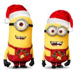 Cute little yellow man Christmas computer desktop wallpaper HD download