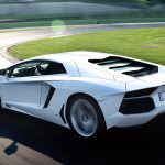 White sports car desktop background picture