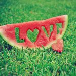 Love watermelon desktop background