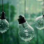 Light bulbs in the rain desktop background