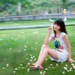 Pure beauty on the grass wallpaper picture