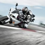 Yamaha motorcycles on the turn wallpaper