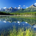 Mountains reflected wallpaper
