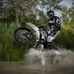 Motorcycle racer in water hd wallpaper