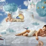 Kids in a fairy tale desktop wallpaper