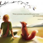 Little prince and fox hd wallpaper