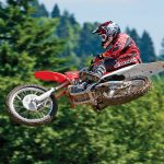 Jump on springboard motocross wallpaper
