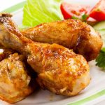 Chicken legs tomato lettuce food desktop wallpaper