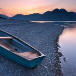 Small wooden boat wallpaper