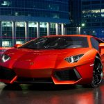 Red Lamborghini sports car desktop wallpaper