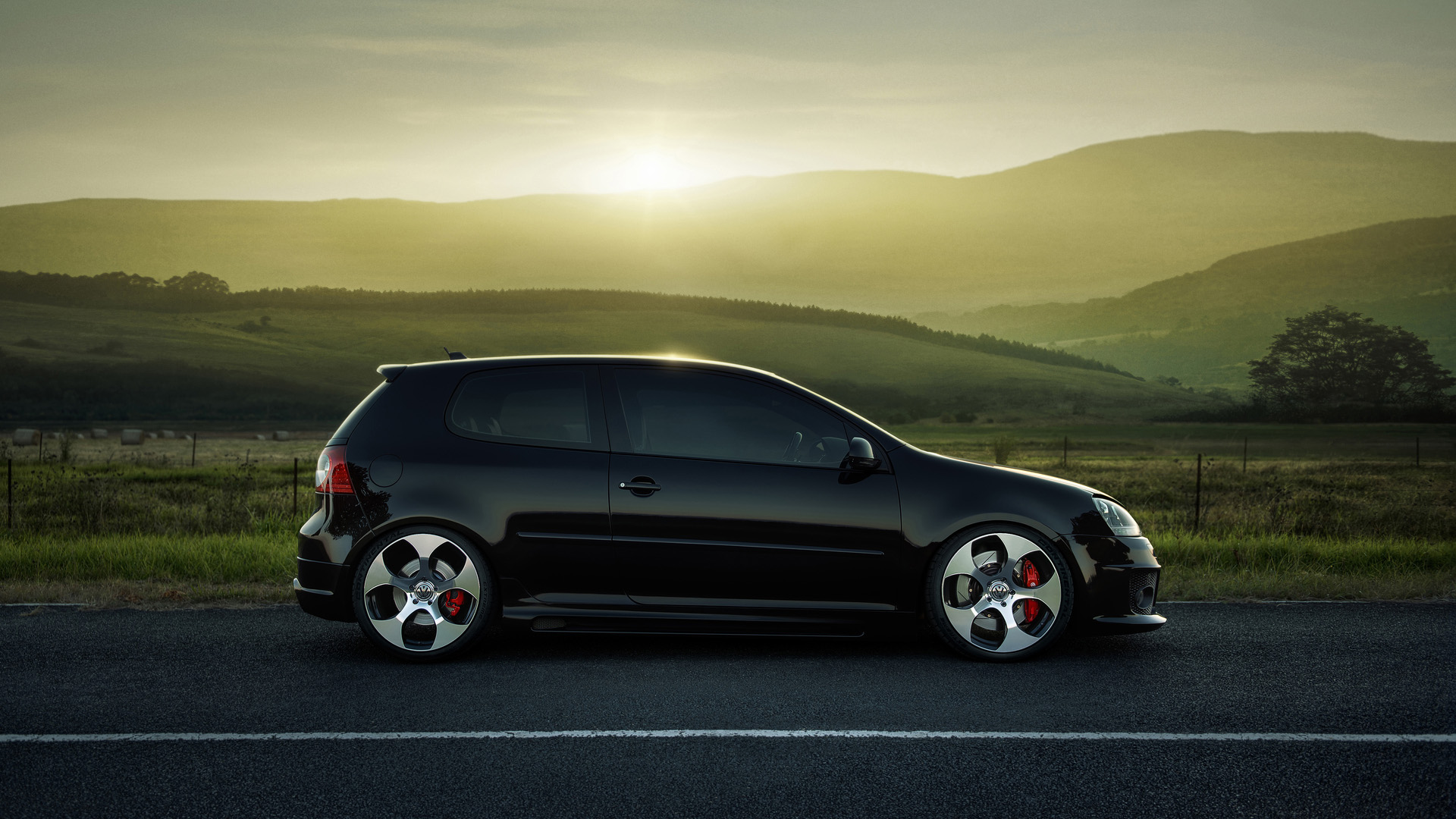 Volkswagen, Golf, GTI, MKV Landscape Desktop Wallpaper