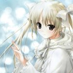 White angel cartoon girl desktop wallpaper