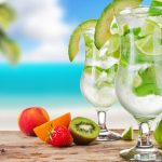 Summer cool, beach, fruit cold drink, desktop wallpaper