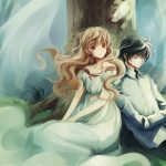 Couple under the big tree anime desktop wallpaper