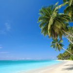 Sea, beach, tropical landscape desktop wallpaper