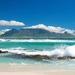 Coastline View of Table Mountain, South Africa desktop background