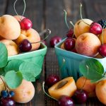 Fruit, apricot, cherry, leaf, fruit photo wallpaper