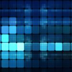 Abstract texture of glowing squares hd wallpaper