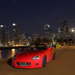 Red Honda S2000 City Night Desktop Wallpaper