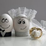 Eggs, groom and bride, wedding, creative desktop wallpaper