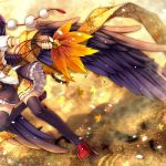 Girl with angel wings hd wallpaper