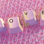 Romantic love love keyboard desktop wallpaper