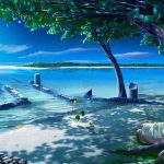 Kagaya Moonlight Night Tree Girl Classic Aesthetic Desktop Wallpaper