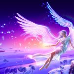 Fantasy beautiful angel wings wallpaper